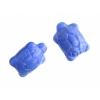 Glass Turtle Strung 20x8mm Blue Silk